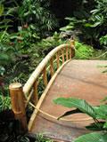 Bamboo bridge, Japanese Zen Garden