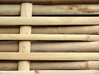 Otsu-gaki woven bamboo fence panels