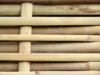 Woven bamboo privacy fence panels
