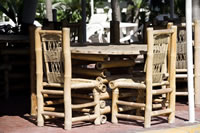 Bamboo Garden Furniture - Table and Chairs