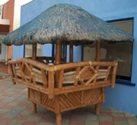 Bamboo gazebo tiki bar or hut for the garden for Garden hut sale