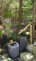 Japanese Water Fountain made from Bamboo