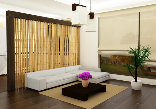 Bamboo Screens - For room partitions a bamboo screen is ideal